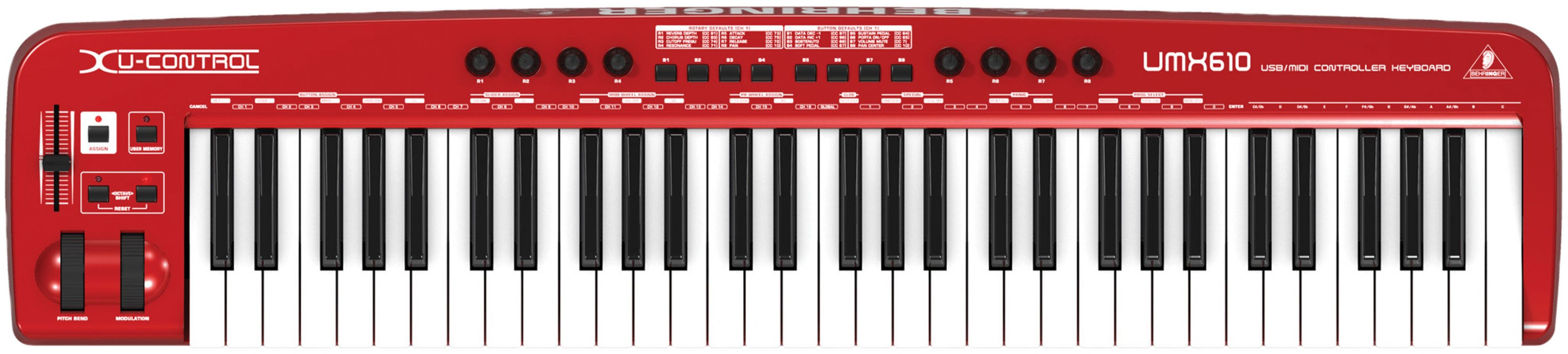Behringher Umx610 Midi Usb 61 Key Digital Electronic